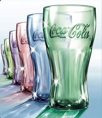 McD Coca Cola glasses USA